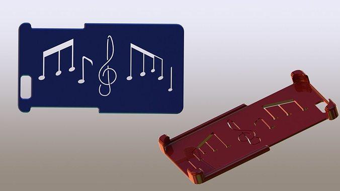 Iphone 6 Case Music Symbols 3d Printable Model