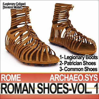 Ancient Roman Shoes Vol 1 Caligae Calcei 3d Model Obj 3ds