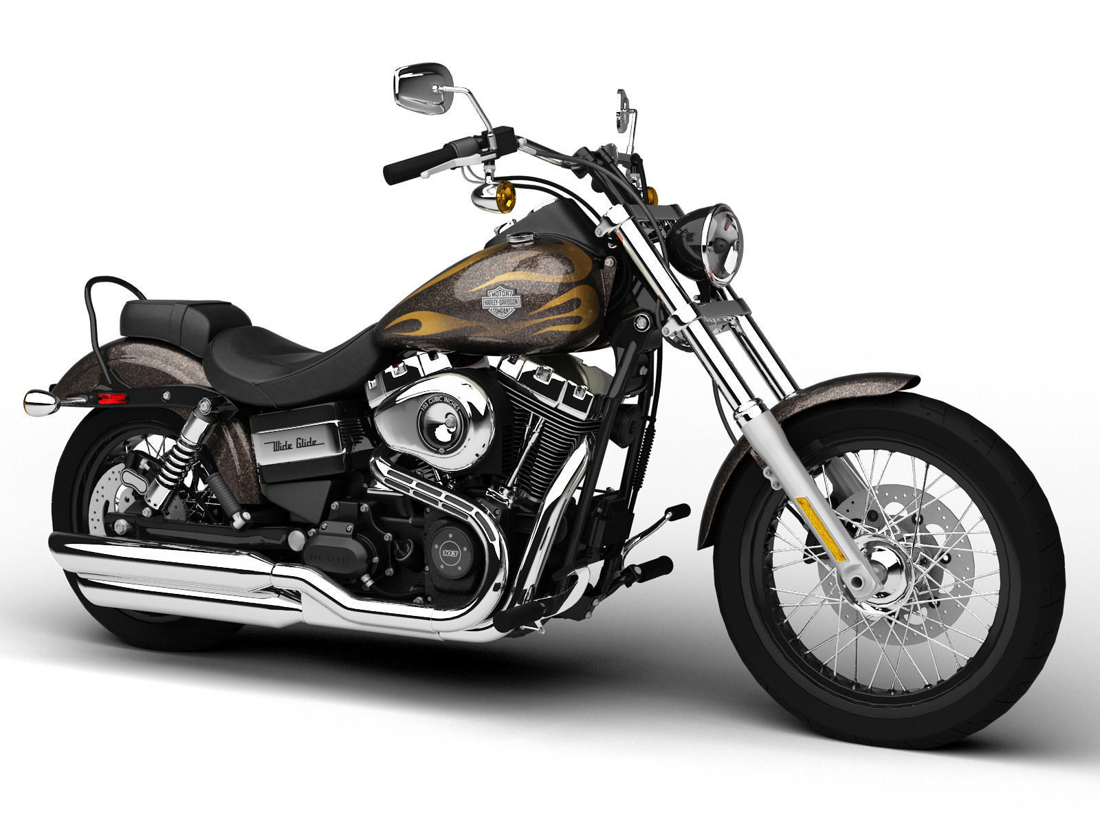 harley davidson fxdwg dyna wide glide 2015 3d model max. Black Bedroom Furniture Sets. Home Design Ideas
