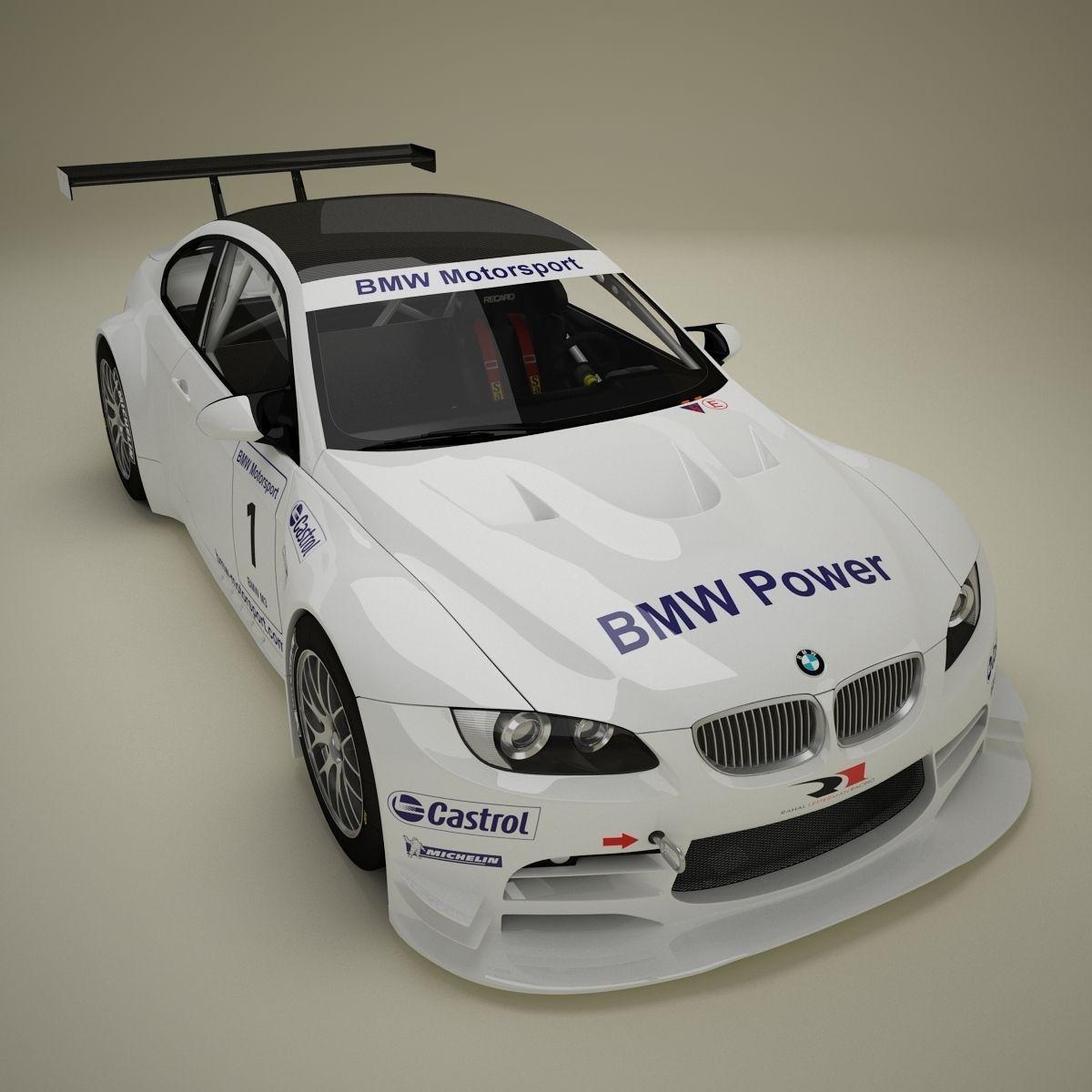 Bmw M3: BMW M3 GTR E92 3D Model MAX