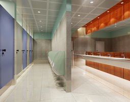 3D model Public Bathroom 080
