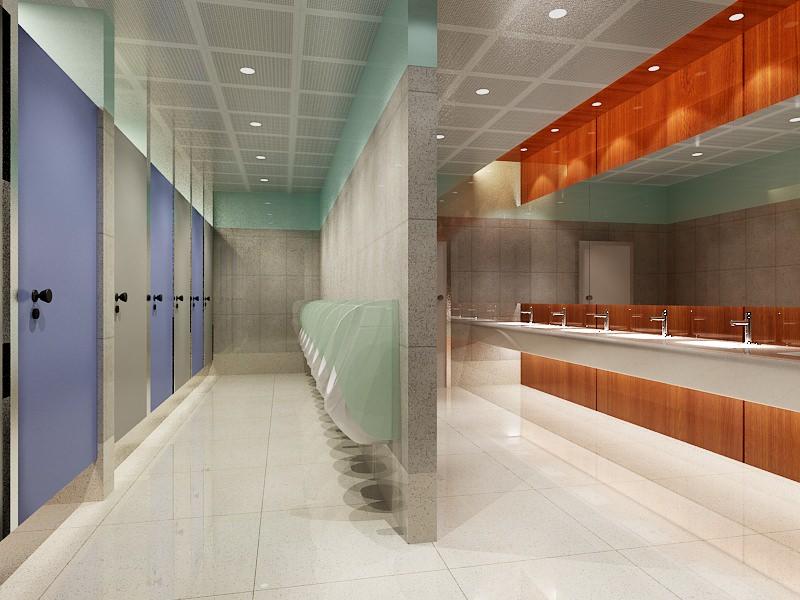 Bathroom Stall Model 3d model public bathroom 080 | cgtrader