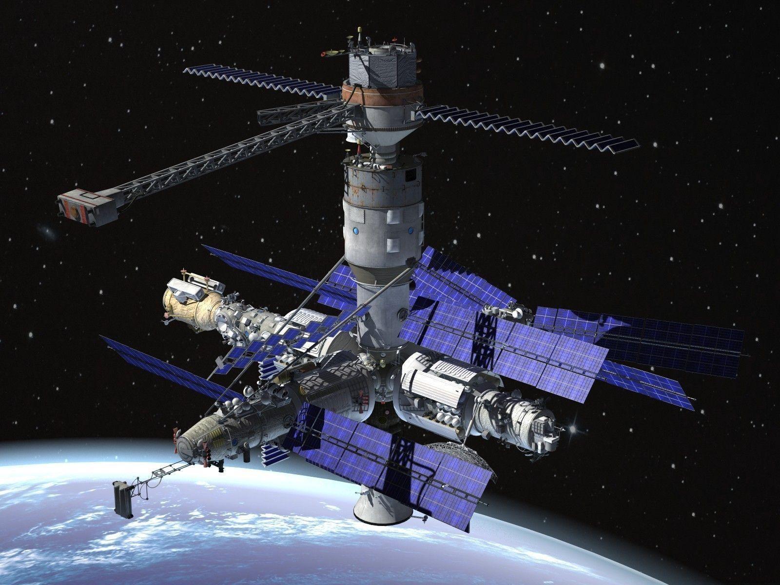 MIR Space Station Complex 3D Model MAX OBJ 3DS FBX C4D LWO ...