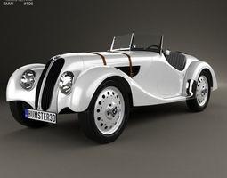 bmw 328 1936 3d model