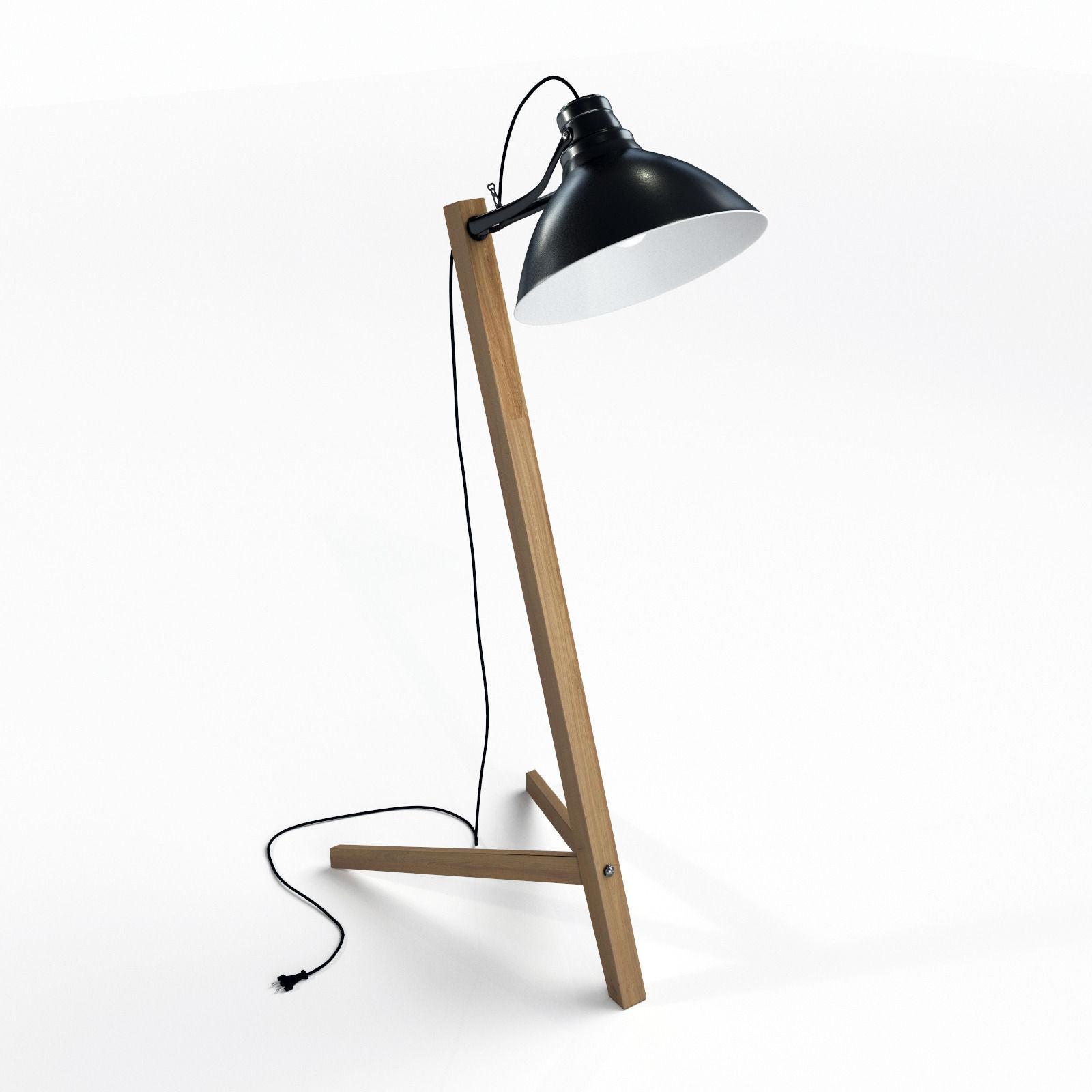 Scandinavian Floor Lamp: ... scandinavian floor lamp 3d model max obj fbx mtl 2,Lighting