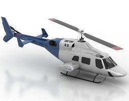 Helicopter 3D Model guns