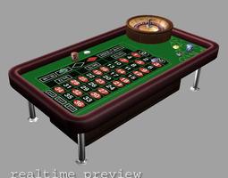 3D model Roulette - Low Poly