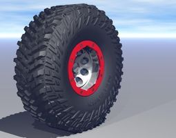 micky thompson baja claw ttc tire and bead lock wheel  3d model 3ds