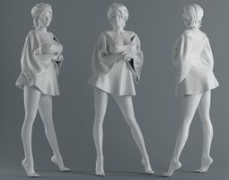 women wear skirts 006 3d printable model