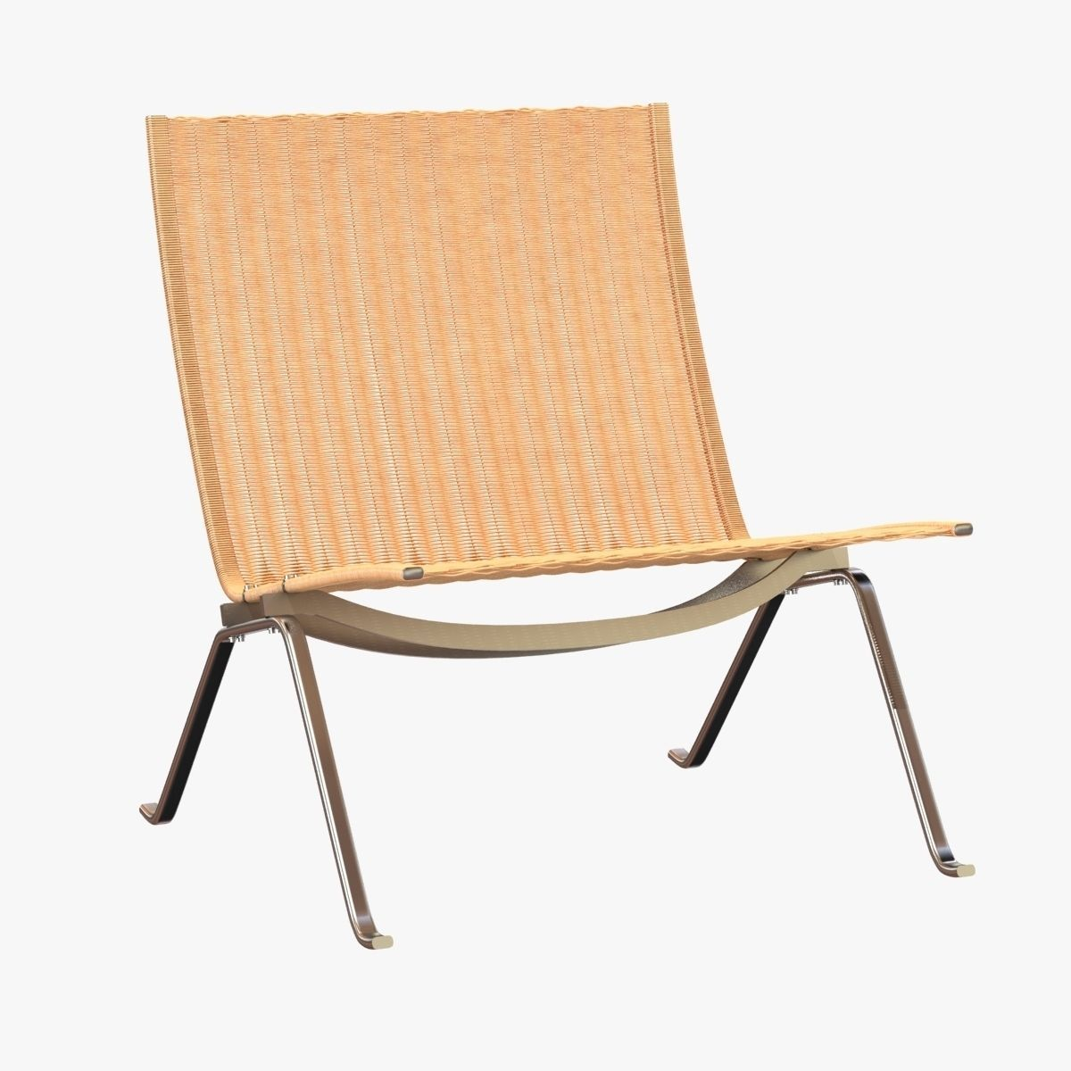 ... Poul Kjaerholm Rattan Lounge Chair 3d Model Max Obj Mtl 3ds Fbx 3 ...