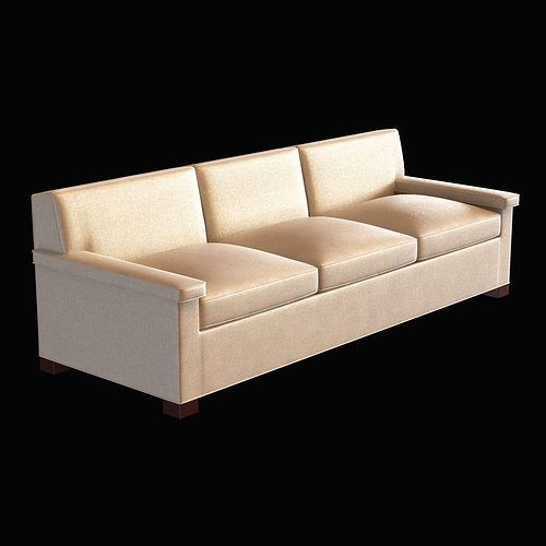 Anthony Lawrence Belfair Contemporary Charles Of London Sofa 3D Model MAX  OBJ 3DS FBX MTL UNITYPACKAGE