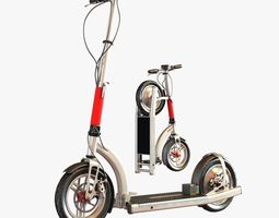 Electric scooter 3D