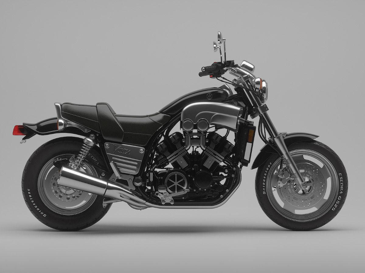 Classic motorcycle yamaha v max 1200 3d model max obj for Yamaha atv models