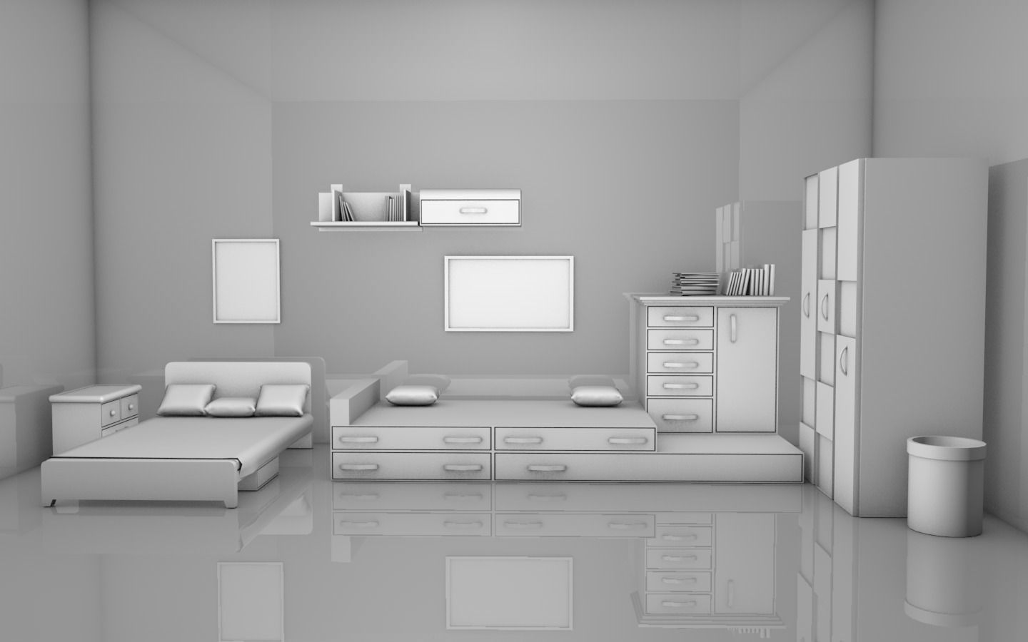 Amazing ... Kids Room Interior 3d Model Obj C4d 2 ...