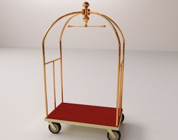 Hotel Luggage Cart 3D