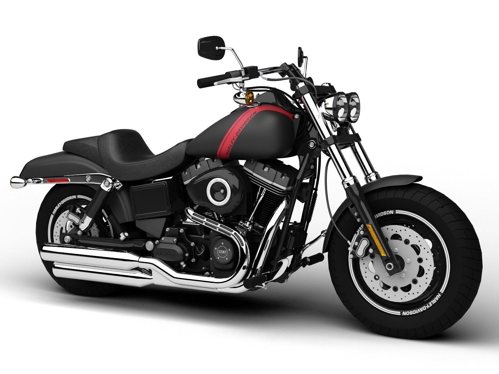 Harley Davidson Bob: Harley-Davidson FXDF Dyna Fat Bob 2015 3D Model MAX OBJ