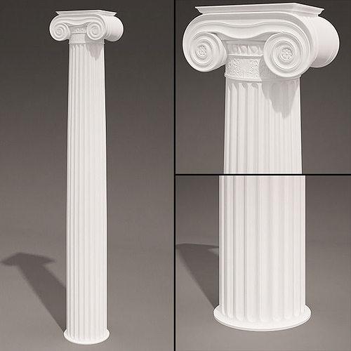 antique column type 7 3d model max obj mtl 1