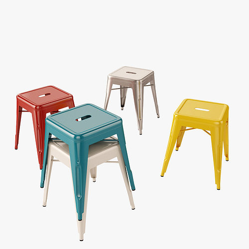 tolix stool h45 3d model max obj mtl fbx 1