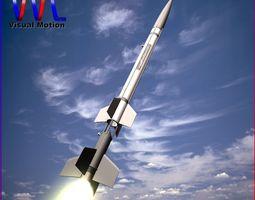 aerobee 150 rocket 3d