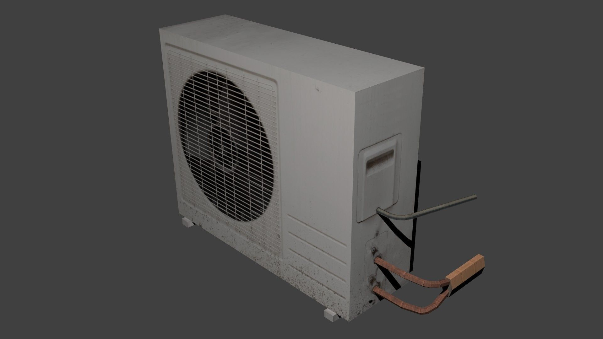 Air Conditioner Fan >> Air conditioner 3D model game-ready | CGTrader