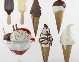 3D Ice cream set