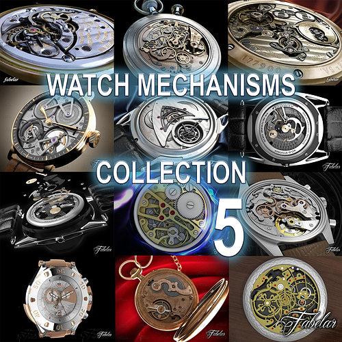watch mechanisms coll 5 3d model animated max obj 3ds fbx c4d dae 1