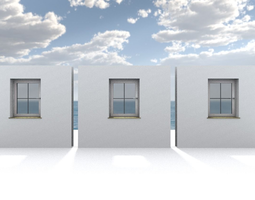 3D asset Window component Rigged and Animated