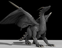 black dragon rigged and game ready 3d asset animated realtime