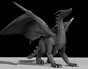 Black Dragon Rigged and Game Ready 3D asset