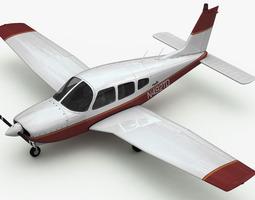 piper pa-28 cherokee arrow 3d rigged
