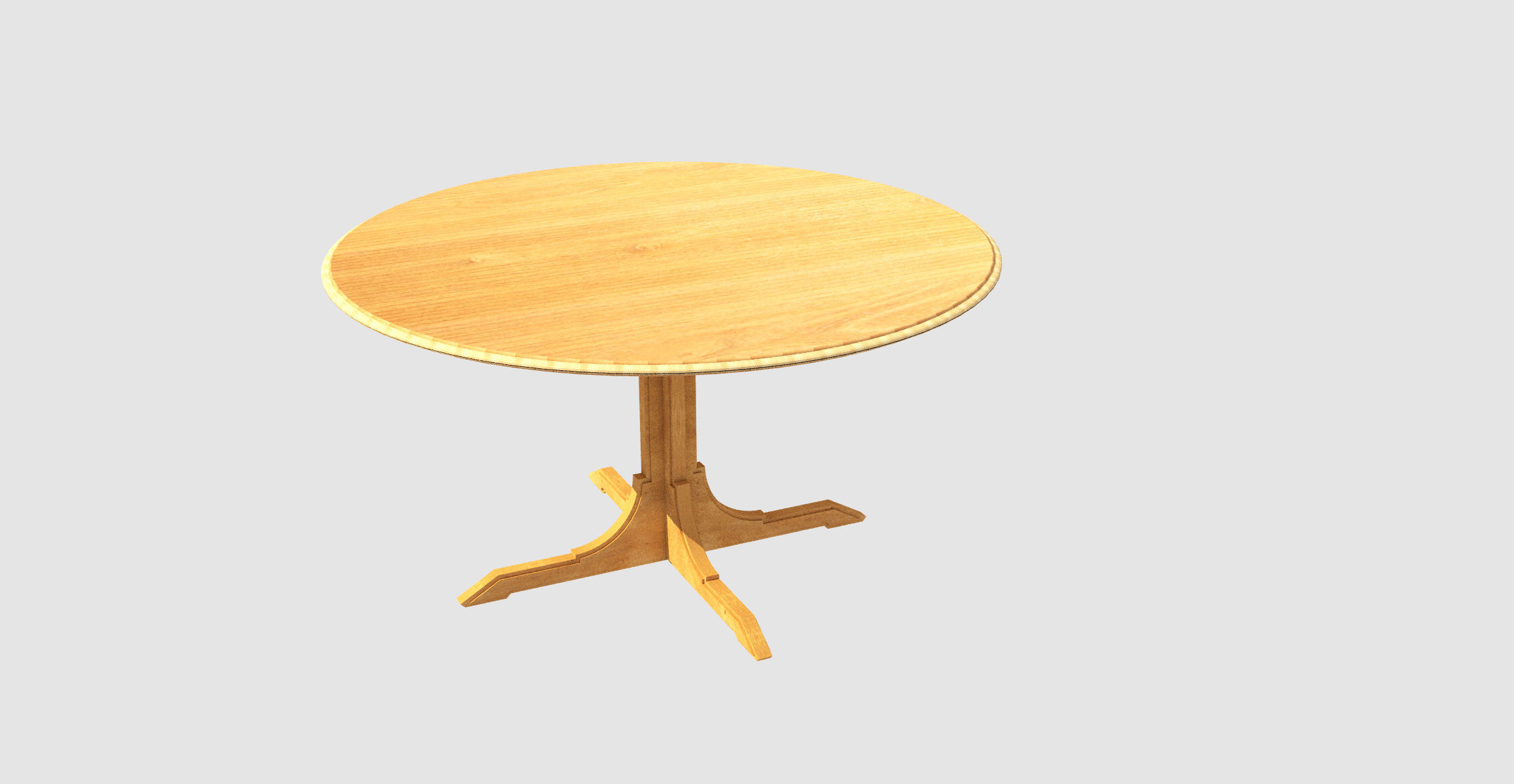 Round Table 3d Model Animated 3ds C4d Stl Dae Skp 1 ...