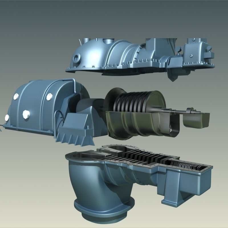 Steam turbine | 3D model