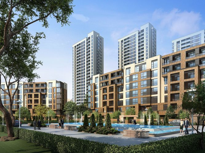 City Commercial And Residential Building Design 002 3d Model