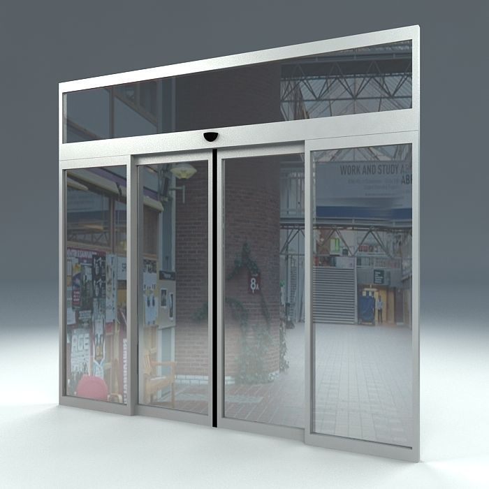 Automatic Sliding Door 3d Model Cgtrader
