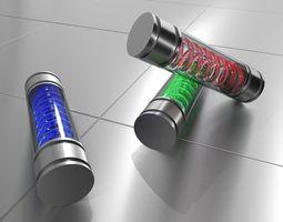 3D model T VIRUS - DNA TUBE