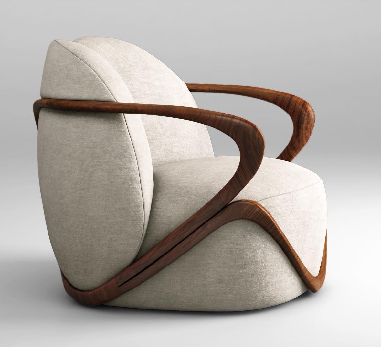 Giorgetti Hug armchair 3D Model .max .obj - CGTrader.com