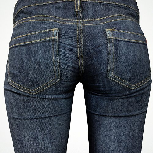 jeans 3d model low-poly obj fbx 1