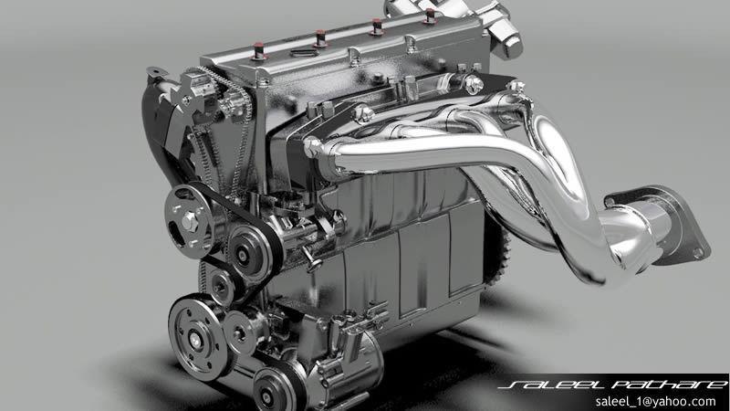 engine 3d models cgtrader rh cgtrader com VW Engine Cutaway 2000 VW Beetle Parts Diagram