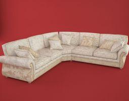3D model RoyBosh corner sofa Versailles
