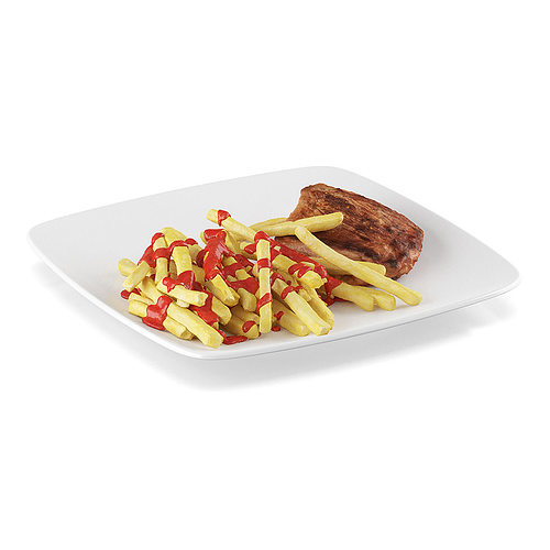 steak with french fries 2 3d model max obj mtl fbx c4d 1