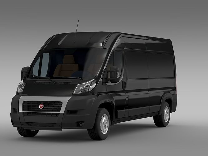 fiat ducato maxi van l3h2 2006 2014 3d model cgtrader. Black Bedroom Furniture Sets. Home Design Ideas