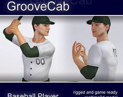 3D model Baseball Player Male rigged