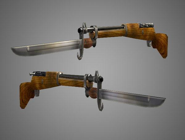 arisaka type 99 rifle low poly 3d model obj fbx lwo lw lws ma mb blend dae 3