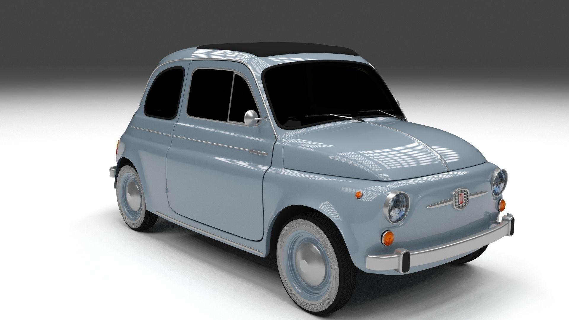 3d model fiat 500 nuova 1957 vr ar low poly obj fbx. Black Bedroom Furniture Sets. Home Design Ideas
