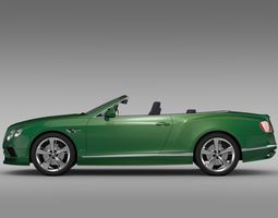 bentley continental gt speed convertible 2017 3d