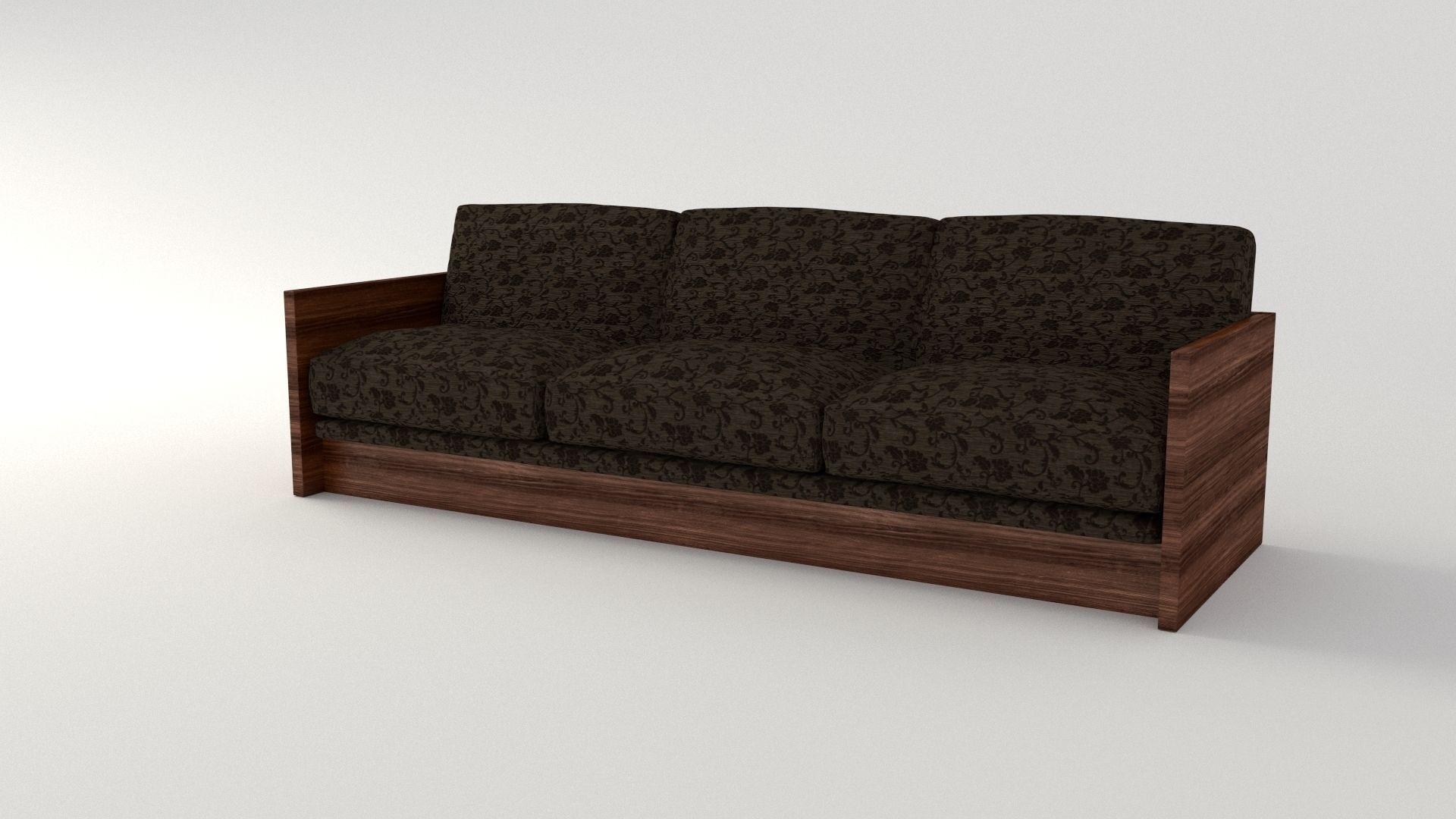 Retro Cloth Sofa Model Obj Mtl S Fbx Stl Blend Dae 2