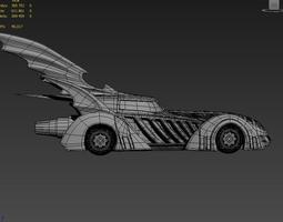 3d batmobile batman forever