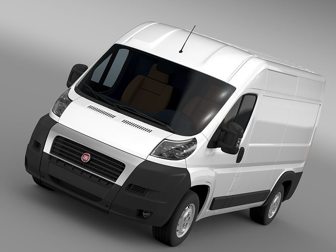 fiat ducato van l2h2 2006 2014 3d cgtrader. Black Bedroom Furniture Sets. Home Design Ideas