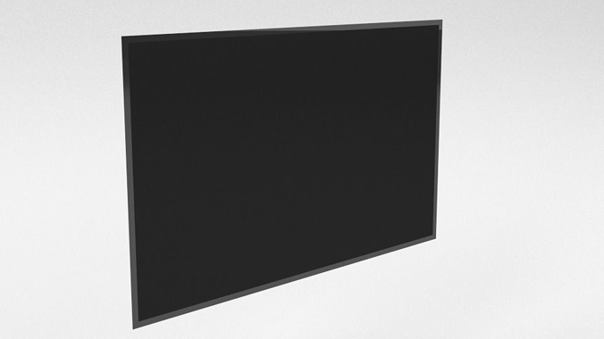 tv flat 3d model low-poly obj blend 1