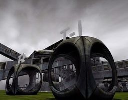 game teleporter blender game engine   3d asset animated game-ready